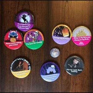 Bundle of Nine Disney Themed Buttons